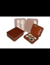 317 Barna bőr utazó óratartó doboz 4 db órához