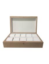GC02-P1-10Y Bézs bőr óratartó doboz 10 db órához