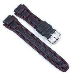 AQF-102L Casio fekete bőrszíj