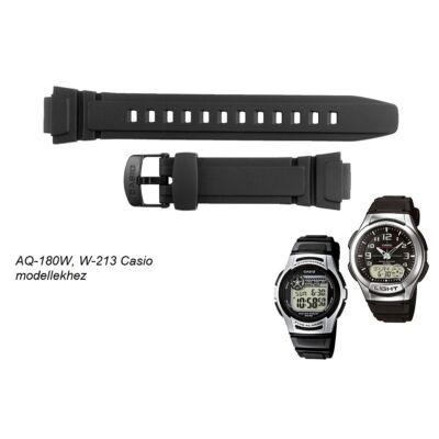 AQ-180 W-213 Casio fekete műanyag szíj