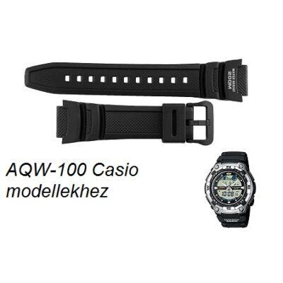 AQW-100 Casio fekete műanyag szíj
