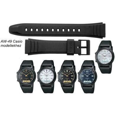 AW-49 Casio fekete műanyag szíj