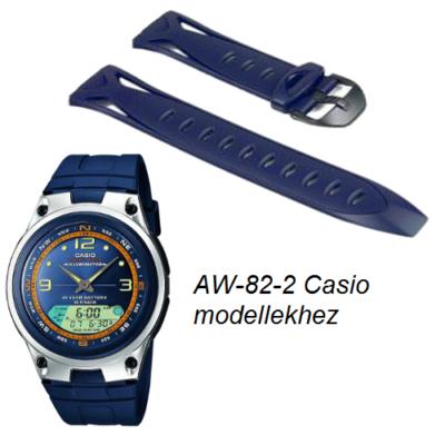 AW-82-2 Casio kék műanyag szíj