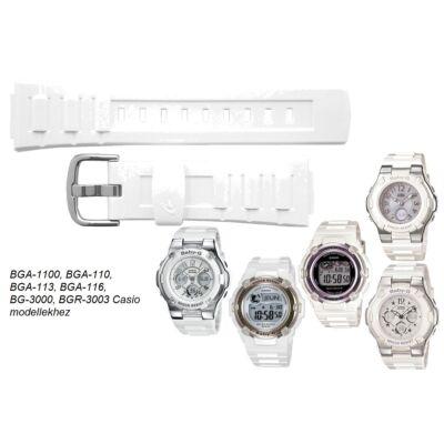 BGA-110 BGA-1100 BGA-113 BGA-116 BG-3000 BGR-3003 Casio fehér műanyag szíj