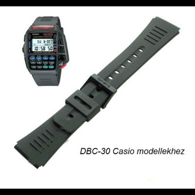 DBC-30 Casio fekete műanyag szíj