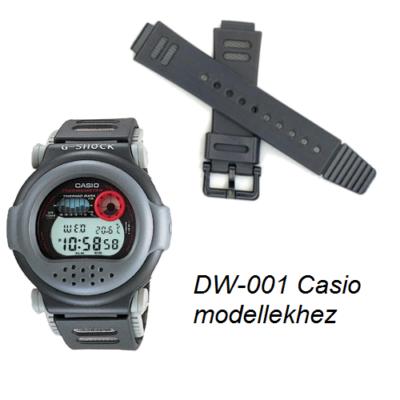DW-001 Casio fekete műanyag szíj
