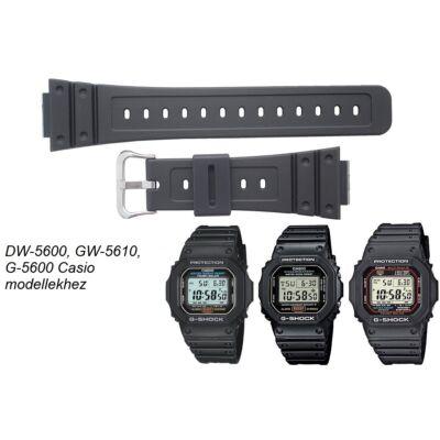 DW-5600, GW-M5610, G-5600 Casio fekete műanyag szíj