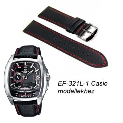EF-321L-1 Casio fekete bőrszíj