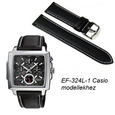 EF-324L-1 Casio karóra fekete bőrszíj
