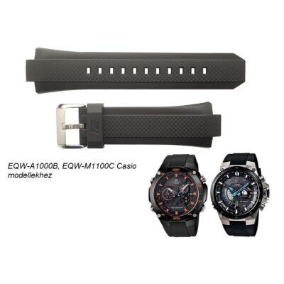 EQW-M1100C EQW-A1000B Casio fekete műanyag szíj