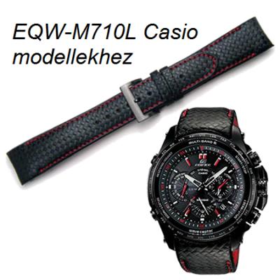 EQW-M710L Casio fekete bőrszíj
