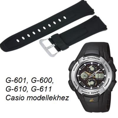 G-601 G-600 G-610 G-611 Casio fekete műanyag szíj