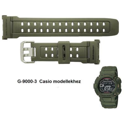 G-9000-3 Casio zöld műanyag szíj