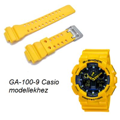 GA-100-9A Casio sárga műanyag szíj