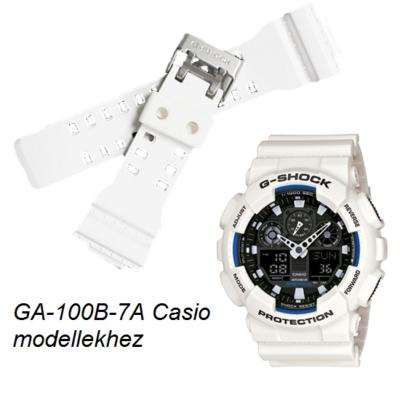 GA-100B-7A Casio fehér műanyag szíj