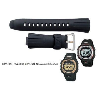GW-300 GW-301 GW-330 Casio fekete műanyag szíj