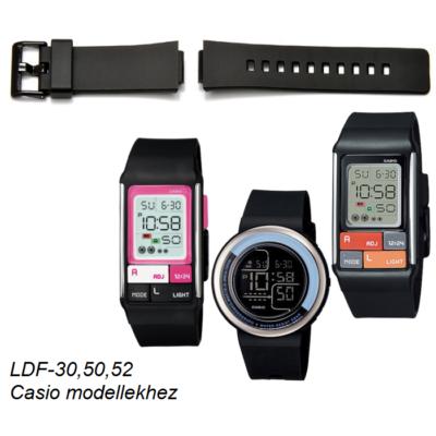 LDF-30 LDF-50 LDF-52 Casio fekete műanyag szíj