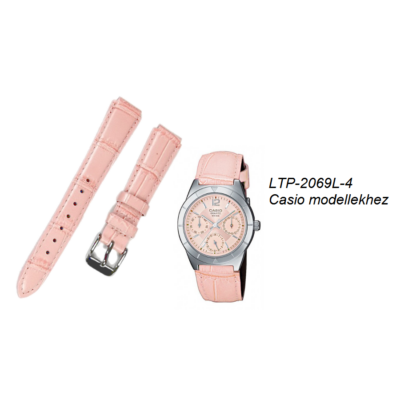 LTP-2069L-4 Casio rózsaszín bőrszíj
