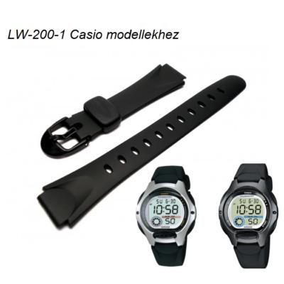 LW-200-1 Casio fekete műanyag szíj