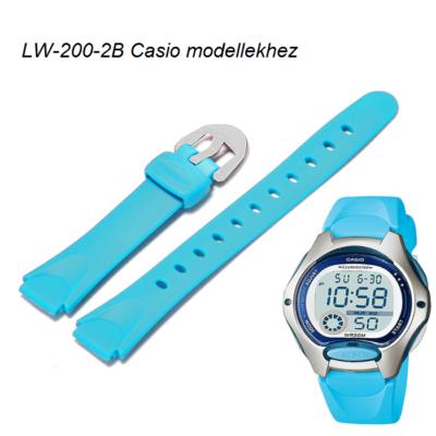 LW-200-2B Casio világoskék műanyag szíj