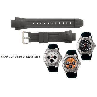 MDV-301 Casio fekete műanyag szíj