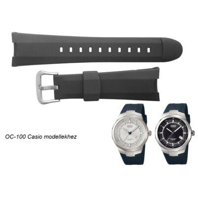 OC-100 Casio fekete műanyag szíj