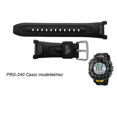 PRG-240 Casio fekete műanyag szíj