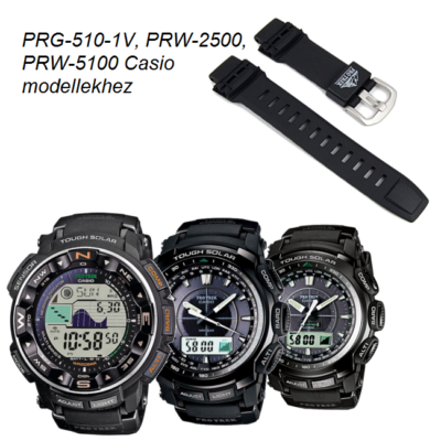 PRG-510-1V, PRW-2500, PRW-5100 Casio fekete műanyag szíj
