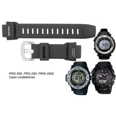PRG-550 PRG-260 PRW-3500 Casio fekete műanyag szíj