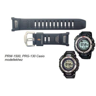 PRW-1500 PRG-130 Casio fekete műanyag szíj