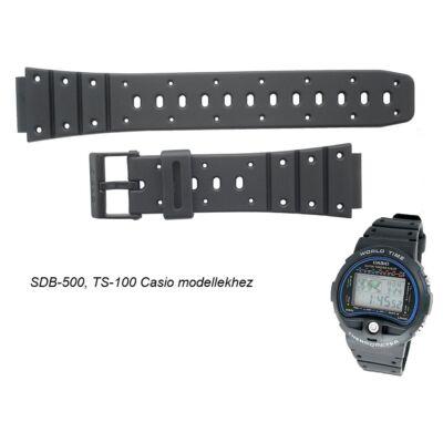 SDB-500 TS-100 TS-200 TRI-10 Casio fekete műanyag szíj