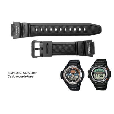 SGW-300  SGW-400 Casio fekete műanyag szíj