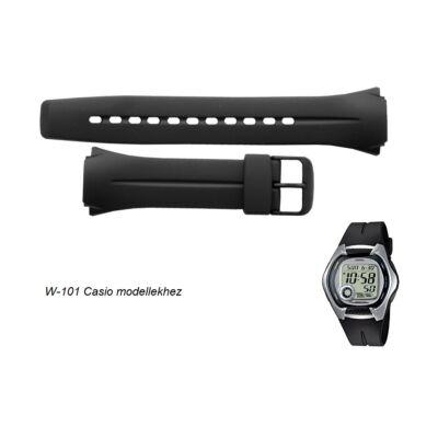W-101  Casio fekete műanyag szíj