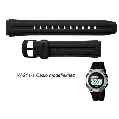 W-211-1 Casio fekete műanyag szíj