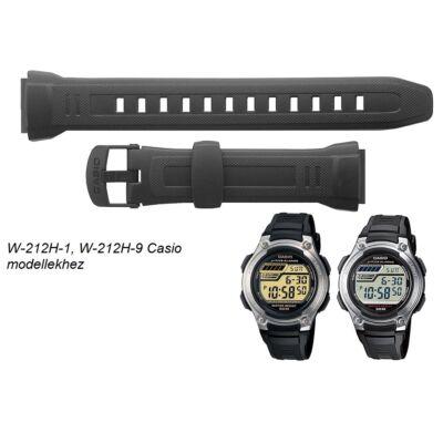 W-212H-1 W-212H-9 Casio fekete műanyag szíj