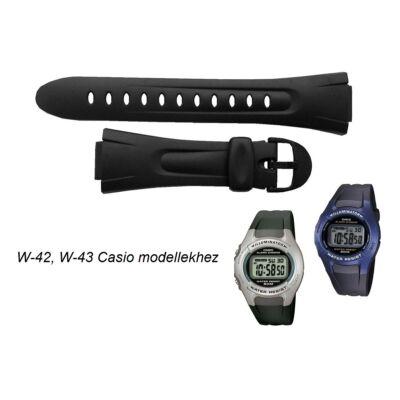 W-42 W-43 Casio fekete műanyag szíj