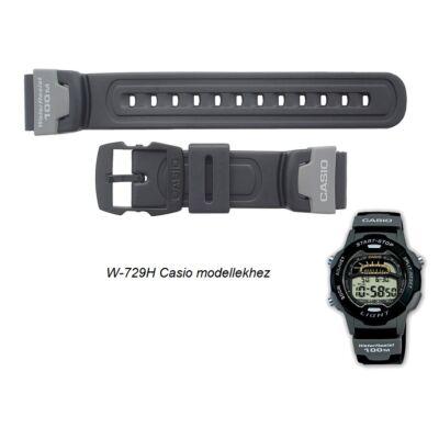 W-729H Casio fekete műanyag szíj