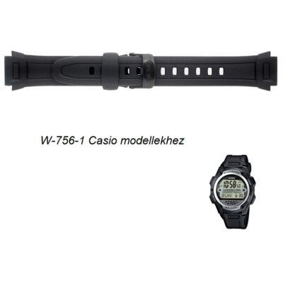 W-756-1 Casio fekete műanyag szíj