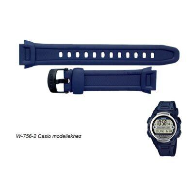 W-756-2 Casio kék műanyag szíj