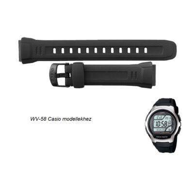 WV-58  Casio fekete műanyag szíj