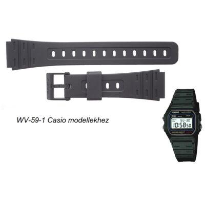 WV-59-1 Casio fekete műanyag szíj