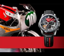 EQS-930HR-1A Casio Edifice Prémium Férfi karóra, Honda  Racing kiadás
