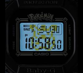 """BGD-560PKC-1ER Casio Baby-G Női karóra """"POKÉMON"""" limitált kiadás díszdobozzal"""