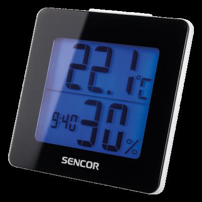 Hőmérő ébresztőórával - FEKETE , Ajándék 30.000 Ft-os vásárlás felett