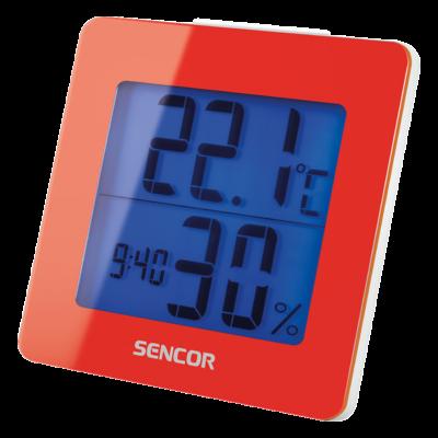 Hőmérő ébresztőórával - PIROS, Ajándék 30.000 Ft-os vásárlás felett