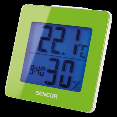 Hőmérő ébresztőórával - ZÖLD, Ajándék 30.000 Ft-os vásárlás felett
