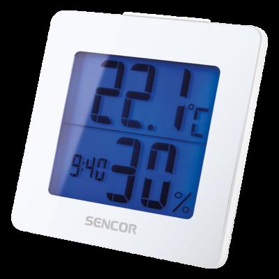 Hőmérő ébresztőórával - FEHÉR, Ajándék 30.000 Ft-os vásárlás felett