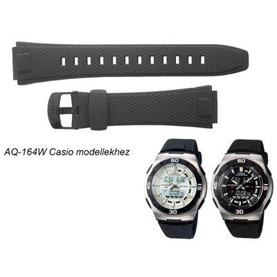 AQ-164 Casio fekete műanyag szíj