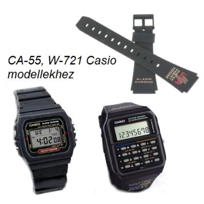 CA-55 W-721 Casio fekete műanyag szíj