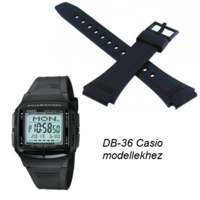 DB-36 Casio fekete műanyag szíj